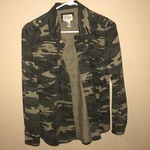 Camo jean jacket? button up?